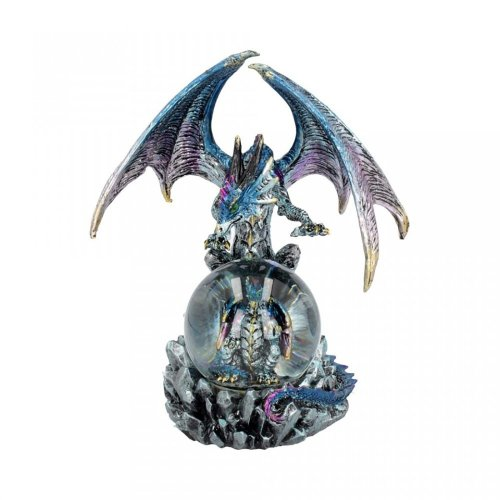 Nemesis Now Azul Oracle 19cm Blue Dragon With Crystal Ball Statue Figure