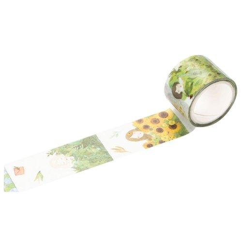 Cartoon Characters Pattern Masking Tape Sticky Paper Masking Adhesive Tape (Set of 6 Rolls)