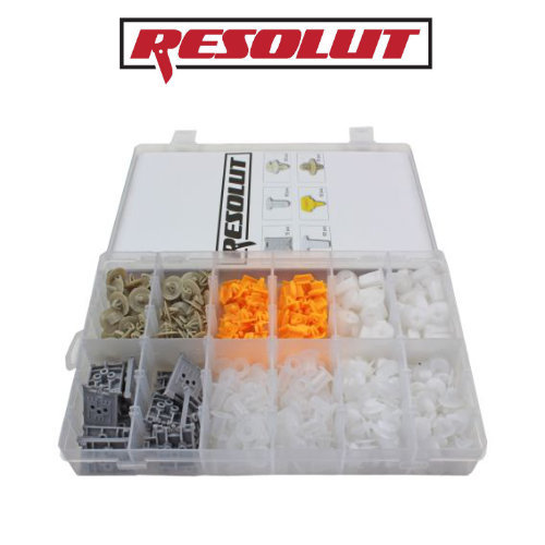 RESOLUT Renault Assorted Trim Clips 300 Pieces 9034