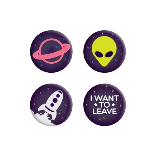 Grindstore I Want To Leave Alien Badge Pack
