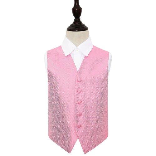 Baby Pink Greek Key Wedding Waistcoat for Boys 26'
