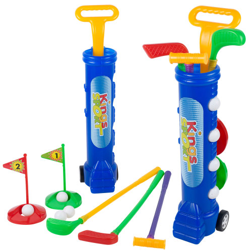 Junior Golf Set Plastic Clubs Balls Caddy Summer Garden Outdoor Beach