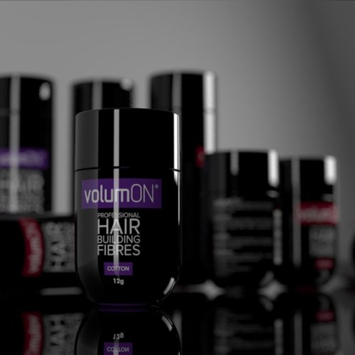 Volumon Professional Hair Loss Concealer- KERATIN- BLACK 28g