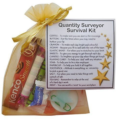 Quantity Surveyor Survival Kit Gift  - New job, work gift, Secret santa gift for colleague, gift for Quantity Surveyor gift