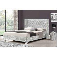 Elizabeth Wingback Bed Frame | Crushed Velvet Bed