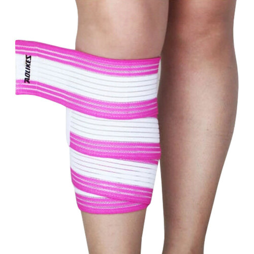 Set of 2 Leg Guard Safety Protector Calf Leg Support Band Twine White/Pink