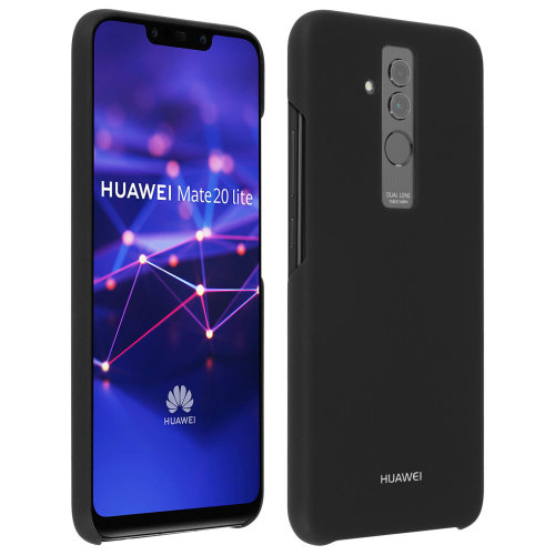 Official Huawei glossy hardcase backcover for Huawei Mate 20 Lite - Black