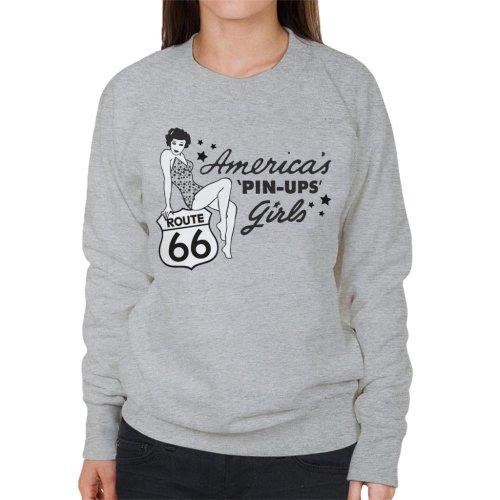 Route 66 Americas Pin Ups Women's Sweatshirt