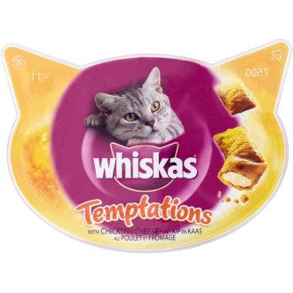 Whiskas C&t Temptations Chicken & Cheese 60g (Pack of 8)