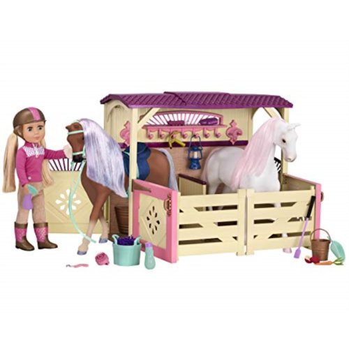 Glitter Girls By Battat All Asparkle Acres Riding Stable Set Accessory Set