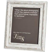 8x10 Distressed White Antique Photo Frame