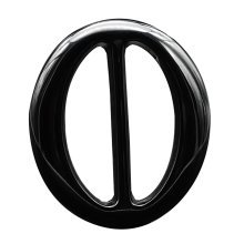 Women's Resin Scarf Clip Ring Black Oval 5pcs