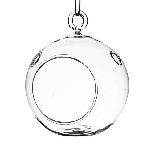 Athenas Garden HCH0106 6 in. Clear Round Hanging Terrarium Globe, Set of 2