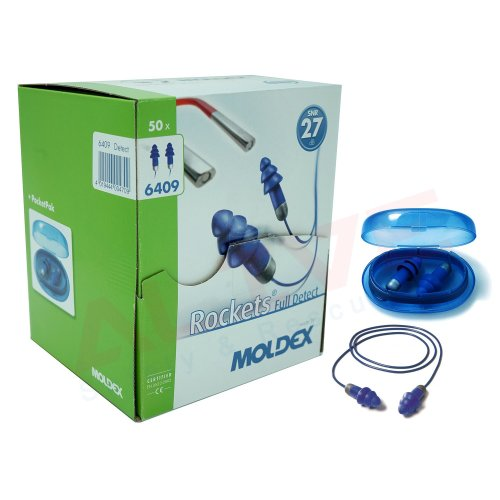 MOLDEX 6409 Rocket Full Detect Cord Earplugs SNR: 27dB