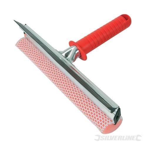 250mm Silverline Hand Squeegee - 993045 Window Sponge Cleaning Rubber -  squeegee hand 250mm silverline 993045 window sponge cleaning rubber