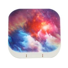 Colorful Clouds Pattern Contact Lens Box