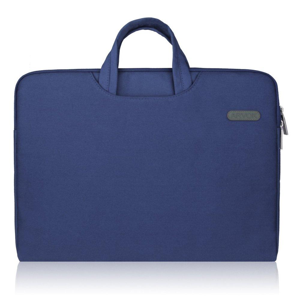 755785bd6ff5 Arvok 15 15.6 16 Inch Water-resistant Canvas Fabric Laptop Sleeve With  Handle & Zipper Pocket/Notebook Computer Case/Ultrabook Tablet Briefcase...
