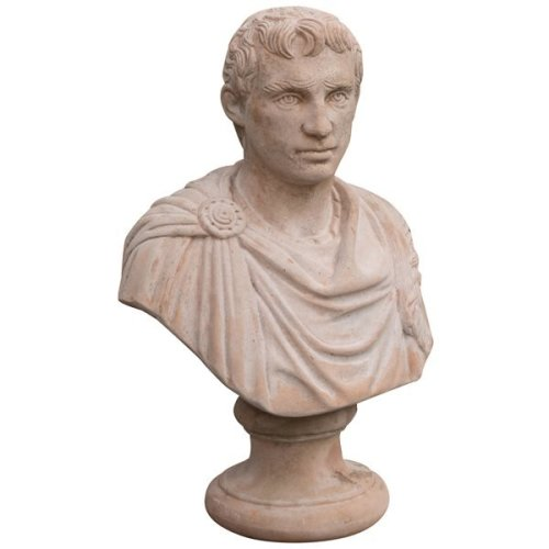 Tuscan Terracotta Made  W45xdp25xh65 Cm Sized Aged Julius Ceasar Bust