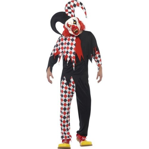 Smiffy s 44734l Men s Crazed Jester Costume (large) - costume fancy dress  crazed jester clown f3fa7194f744
