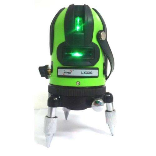 Imex LX33G 3 Line Green Beam Laser Level