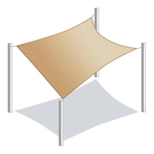 Aleko SS03REC10X6.5SD-UNB 10 x 6.5 ft. Rectangle Waterproof Sun Shade Sail Canopy Tent, Sand