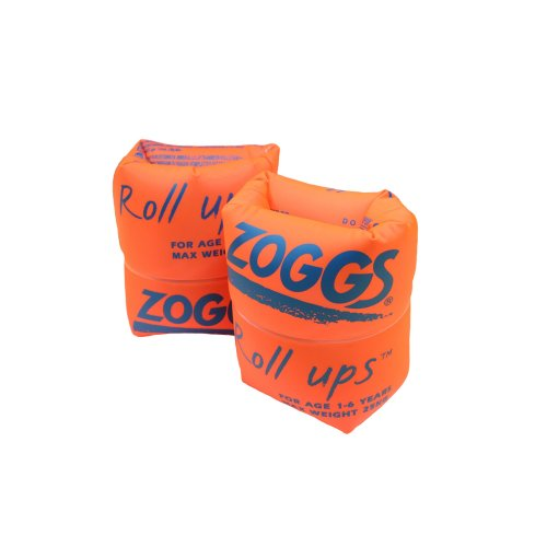 Zoggs Swimming Aid Children's Easy Inflate and Trade Roll-Ups - Orange, 1-6 Years