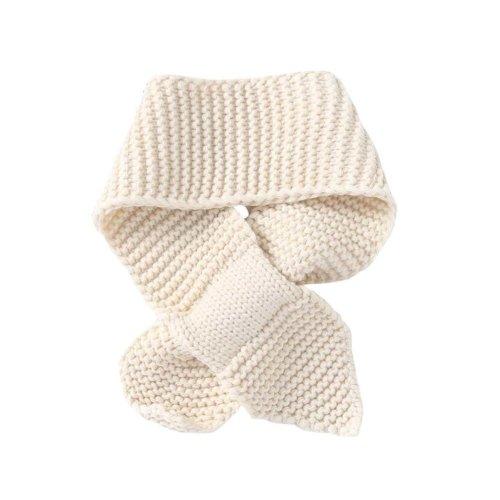 Warm Knitted Scarf Boys Cozy scarf Soft Scarf Beige