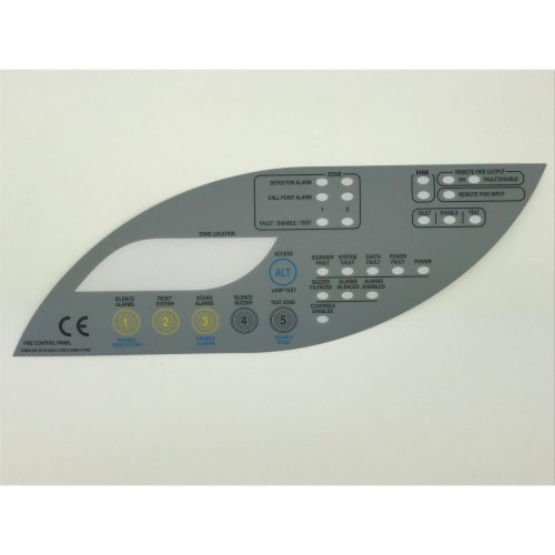 Keypad Overlay Membrane For Fike Twinflex 2 or 4 Zone Fire Alarm Panel