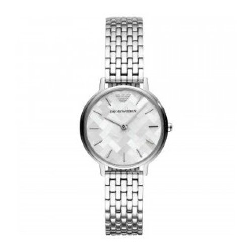EMPORIO ARMANI WATCH WOMEN'S STEEL MOTHER-OF-PEARL ONLY TIME AR11112
