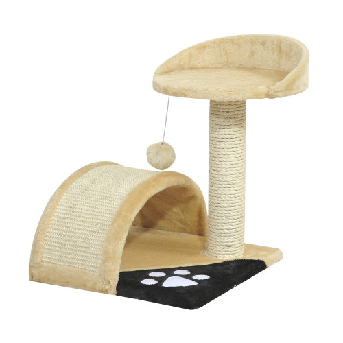 PawHut Cat Scratching Tree Play Toy Condo Pet Furniture Post Scratcher  Play 44H