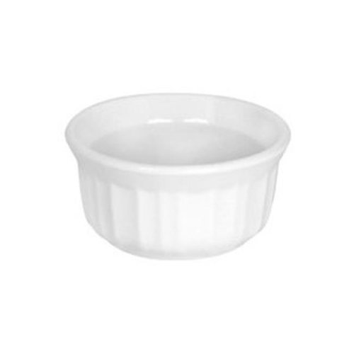 Kitchen 1111281 Baking Dish French White Ramekin, 7 oz.