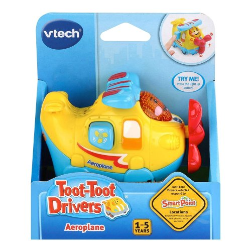 Vtech Toot-Toot Drivers Aeroplane With 3 Songs and 6 Melodies Preschool Toy Ages 1- 5 Years