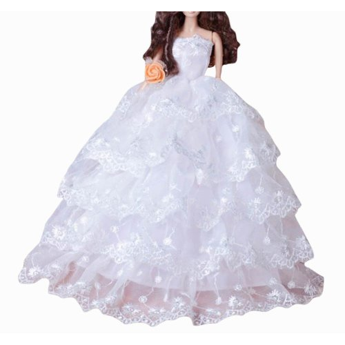 New Decent Beautiful Wedding Dress Skirt For 11.81-inch Doll-02