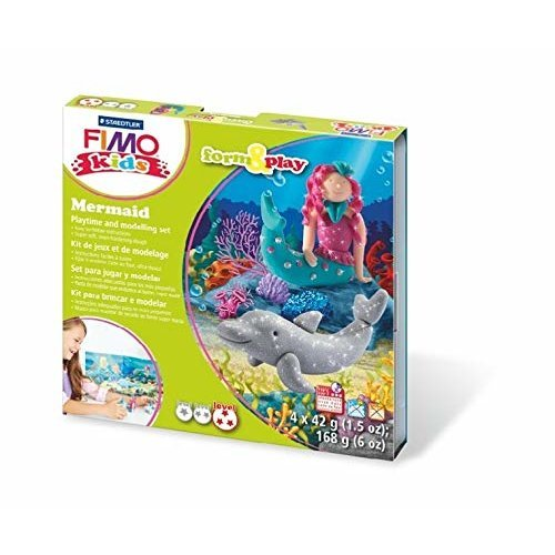 STAEDTLER 8034 12 LZ Fimo Kids Mermaid Form and Play Set