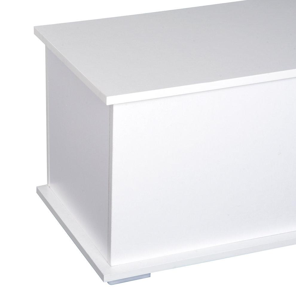 Homcom Wooden Storage Box Clothes Toy Chest Bench Seat
