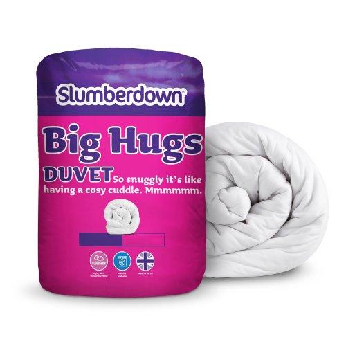 Slumberdown Big Hugs 10.5 Tog Shape Recovery Duvet- Single, White