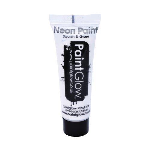 Uv Face & Body Paint, White, 10ml - Paint Neon Glow Paintglow Make Up Festival -  paint uv body neon face glow paintglow make up 10ml festival white