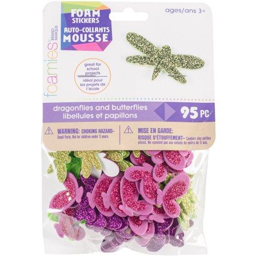 Foam Sticker Confetti-Dragonflies N Butterflies 95/Pkg