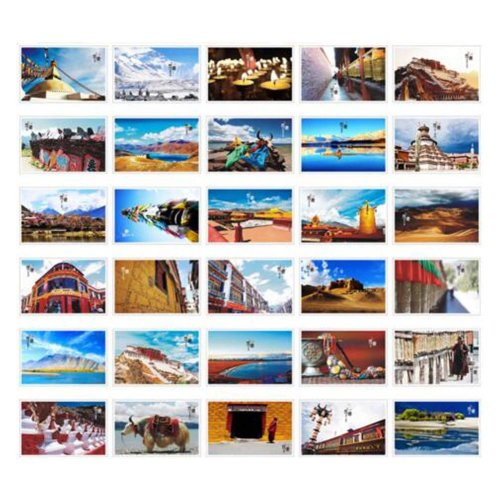 30PCS 1 Set Creative Postcards Artistic Beautiful Postcards, Tibet