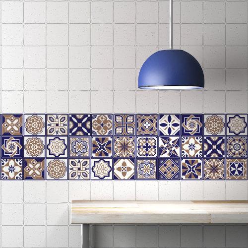 Walplus Tile Royal Wall Sticker Decal (Size: 10m x 10cm @ 24pcs)