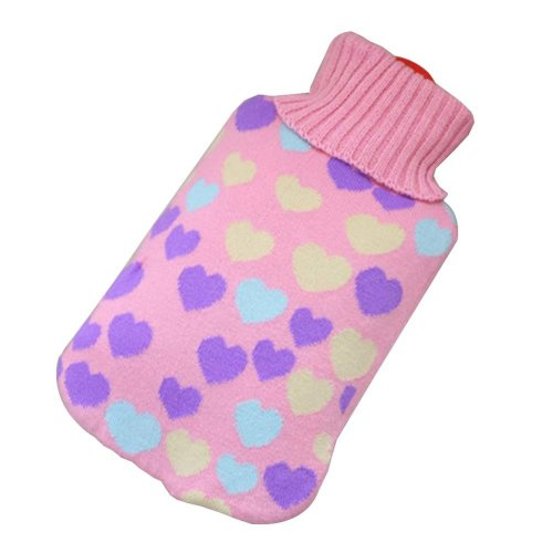 [Pink-3] Big Hot Water Bottle Cute Hot Water Bag Hot Water Bottle With Cover
