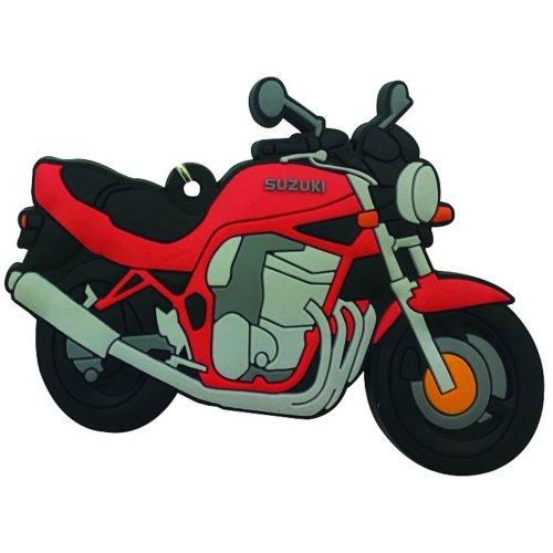Suzuki Bandit GSF rubber key ring motorbike gift chain keyring