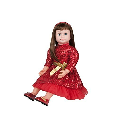 aa8930a50 Ask Amy 22 Talking Interactive Singing Storytelling Smart Educational Doll  Brunette Red Sparkles Dress on OnBuy