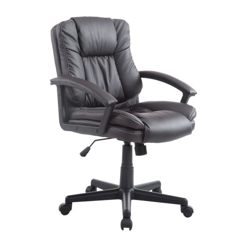 Homcom Executive Office Chair PU Leather Swivel Height Adjustable (Brown)