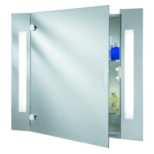 Illuminated Bathroom Mirror Cabinet With Shaver Socket