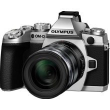 Olympus OM-D EM-1 Compact System Camera - Silver (16.3MP, M.ZUIKO 12-50mm Lens) 3.0 inch Tiltable Touch Screen LCD