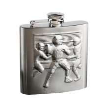 [Relief Football] Creative Hiking/Camping Stainless Steel Hip Flask , 6oz