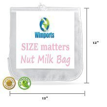 Nut Milk Bag | Extra Large | Food Strainer Bag | Easy Fresh Juice | Great for Cheese Making and Baking |