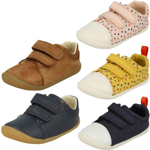 Childrens Boys Girls Clarks Pre-Walking Shoes Roamer Craft - G Fit