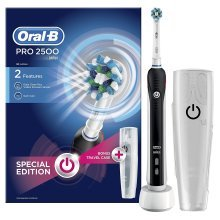 Oral-B Pro 2500 Electric Rechargeable Toothbrush Powered by Braun - Black - Ships with a UK 2 pin plug